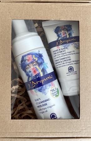 Zestaw kosmetyków naturalnych-Mus do oczyszczania twarzy+krem do rak (1)
