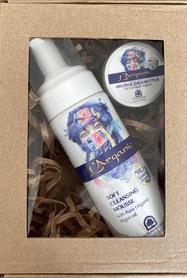 Zestaw-kosmetyki naturalne-Mus do oczyszczania twarzy  plus masełko shea